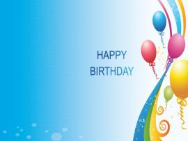 1st Birthday Blue Backgrounds