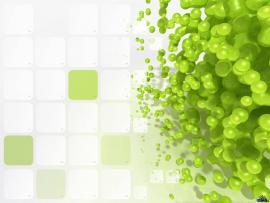 3d Green Bubbles Backgrounds