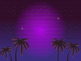 80s Retro Neon Gradient Backgrounds