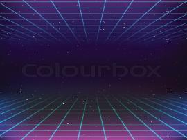 80s Retro Sci Fi  Stock Vector  Colourbox Art Backgrounds