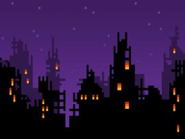 8bit Skyline Backgrounds