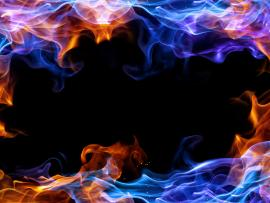 Abstract Blue Fire Frame Photo Backgrounds