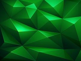 Abstract Green Triangle Frame Backgrounds