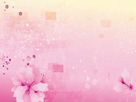 Abstract Pink Flowers Template Backgrounds