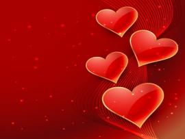 Abstract Valentines With Hearts Vector  Free Photo Backgrounds
