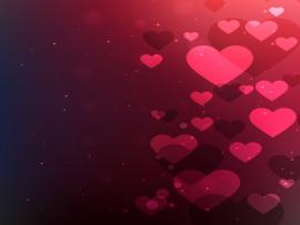 Abstract Valentines With Hearts Vector  Free Backgrounds