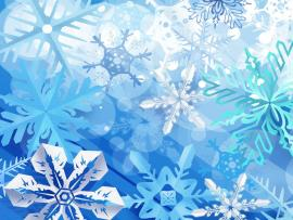 Abstract Winter Snowflakes Graphic Backgrounds