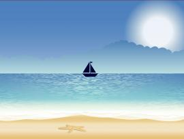 Alone Sailboat Backgrounds