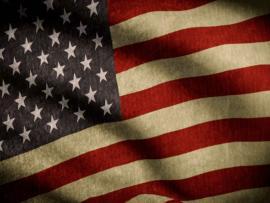 American Flag Vintage Presentation Backgrounds