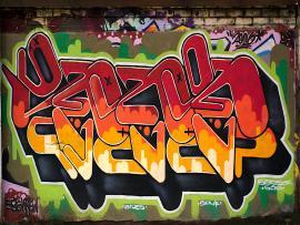 Amusement Center Graffiti Picture Backgrounds