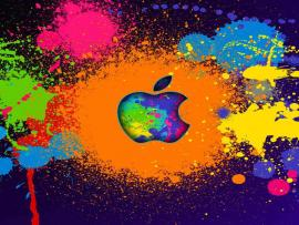 Apple Paint Splatter Backgrounds