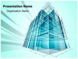 Architectural Engineering PowerPoint Template   Art Backgrounds