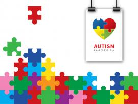 Autism Puzzle for Awareness Backgrounds