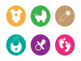 Baby Footprints Clip Art Backgrounds