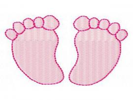 Baby Footprints Design Backgrounds