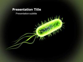 Bacteria PowerPoint Templates and Graphic Backgrounds