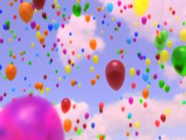 Balloon Birthday Wishes Quality Backgrounds
