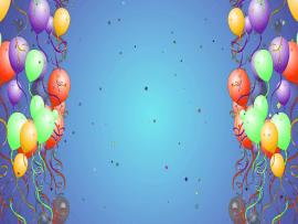 Balloon With Star Particles Hd Presentation Backgrounds