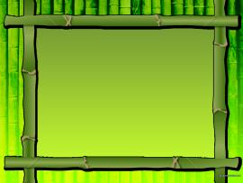 Bamboo Border Image Slide Template Graphic Backgrounds