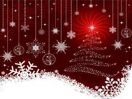 Beautiful Christmas Ball Presentation Backgrounds