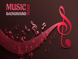 Beautiful Music Notes Vector  Free Vector Art   Template Backgrounds