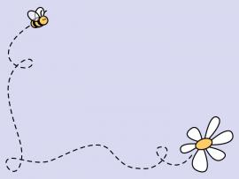 Bee Daisy Clip Art Backgrounds