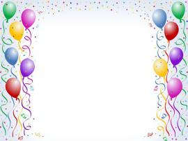 Birthday Balloons Frame Frame Backgrounds