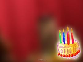 Birthday Cake Photo Presentation Backgrounds