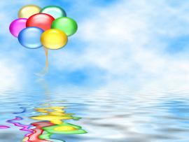 Birthday Sea Reflection Design Backgrounds