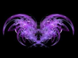 Black and Purple Angel Art Backgrounds