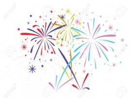 Black Fireworks White Vector Clip Art Backgrounds