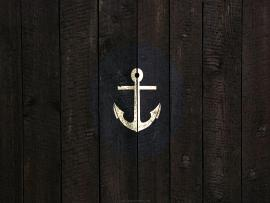 Black Nautical Anchor Presentation Backgrounds