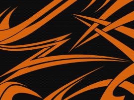 Black Orange Carbon Desktop Pc and Mac Frame Backgrounds