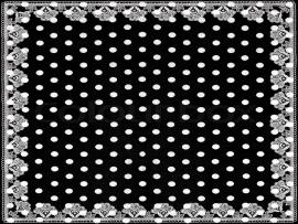 Black White Polka Dots With Lace Design Backgrounds
