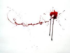 Blood Splash On White Frame Backgrounds