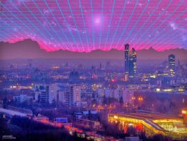 Blue 80s Laser Backgrounds