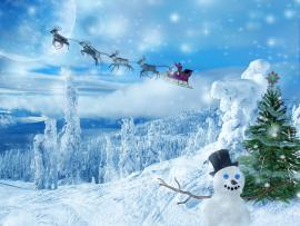 Blue and White Free Christmas Frame Backgrounds