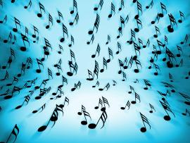 Blue and White Music Clipart Backgrounds