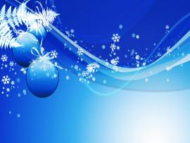Blue Ball Christmas Holiday Presentation Backgrounds