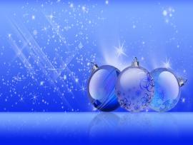 Blue Christmas Balls Slides Backgrounds