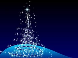 Blue Christmas Template Backgrounds