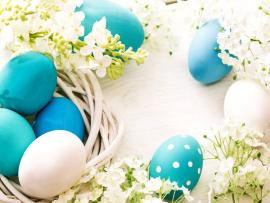 Blue Easter Eggs Backgrounds