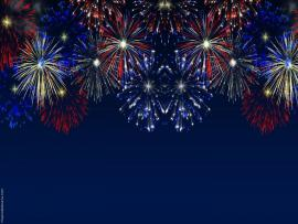 Blue Fireworks Template Backgrounds