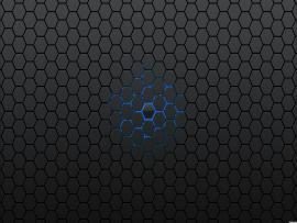 Blue Hexagon Patterns Walpaper Frame Backgrounds