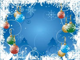 Blue Holiday Frame Picture Backgrounds