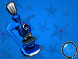 Blue Microscope Backgrounds