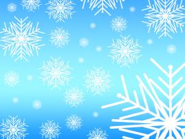 Blue Snowflake Picture Backgrounds