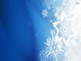 Blue Snowflake Presentation Backgrounds