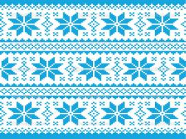 Blue Ugly Christmas Sweater Pattern Presentation Backgrounds