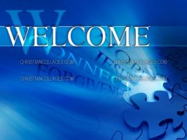 Blue Welcome Wallpaper Backgrounds
